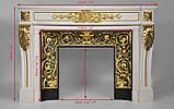 Мраморный камин Аркадия Стиль Людовика XVI(сусальное золото), фото 9