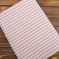 """Японский фактурный хлопок для пэчворка и кукол """"Фактурные тепло-розовые линии"""", 25*35 см"""