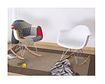 Кресло-качалка Тауэр R, желтый пластик, бук (Прайз), Eames, фото 3