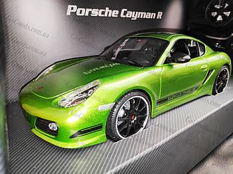 Машинка радиоуправляемая Porsche Cayman 1:16 с аккумулятором Зеленая