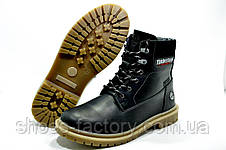 Зимние ботинки в стиле Timberland, Black, фото 2