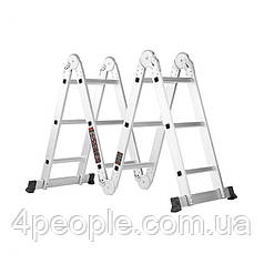 Лестница алюминиевая трансформер Dnipro-M MP-43 3,6 м
