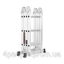 Лестница алюминиевая трансформер Dnipro-M MP-43 3,6 м, фото 2