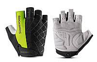 Перчатки RockBros Spyder, черно-зеленые, M