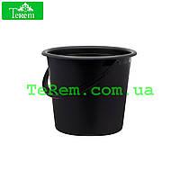 Ведро пластиковое 5 литров Юнипласт чёрное