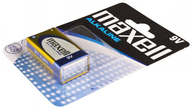 Батарейка  Maxell Alkaline 9V/6F22