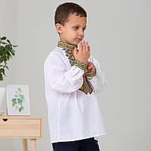 Вышиванка для мальчика с ярким  орнаментом, фото 3