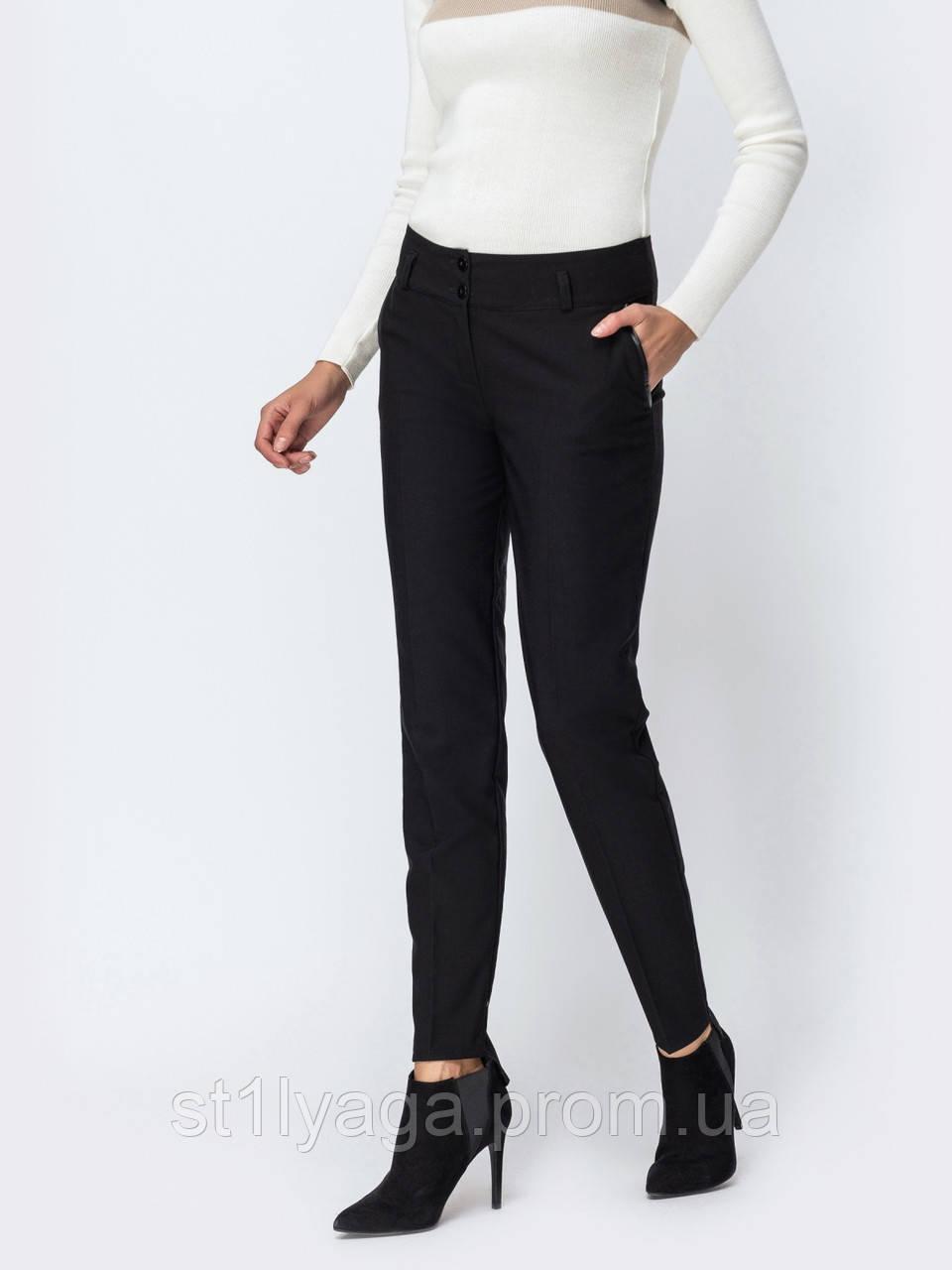 Классические брюки на флисе с асимметричным низом ОСЕНЬ - ЗИМА