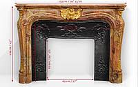 Мраморный каминГрафиня де Вентимилья с бронзовыми орнаментами, фото 1