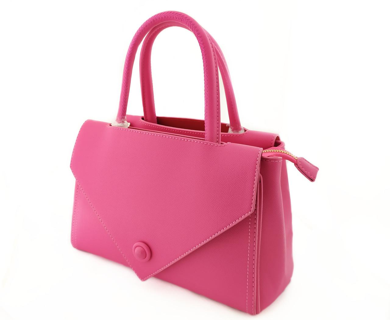 Женская сумка, розовая из эко-кожи