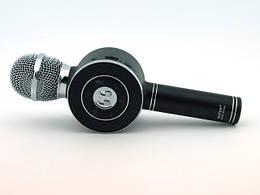Микрофон безпроводной блютуз  портативный Bluetooth Karaoke WS668 Черный