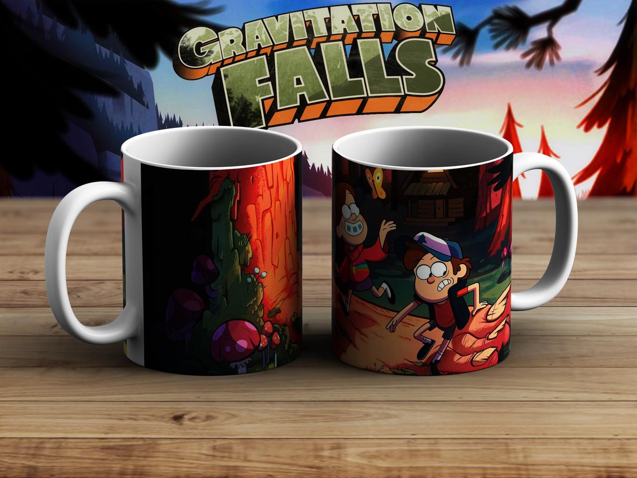 Чашка Диппер и Мэйбл в лесу Гравити Фолз / Gravity Falls