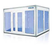 Холодильные камеры со стеклом для хранения и демонстрации, продажи продуктов, напитков.