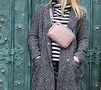 Женская поясная-кроссбоди сумка из натуральной кожи ручная работа