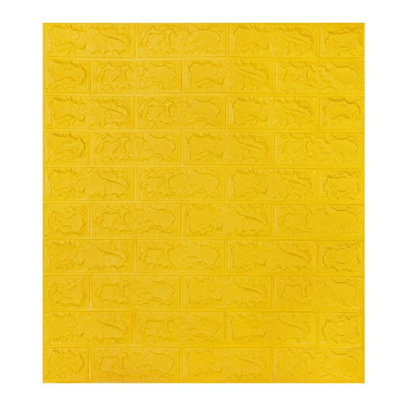 Самоклеящаяся декоративная 3D панель под желтый кирпич 700x770x7мм (самоклейка, Мягкие 3D Панели)
