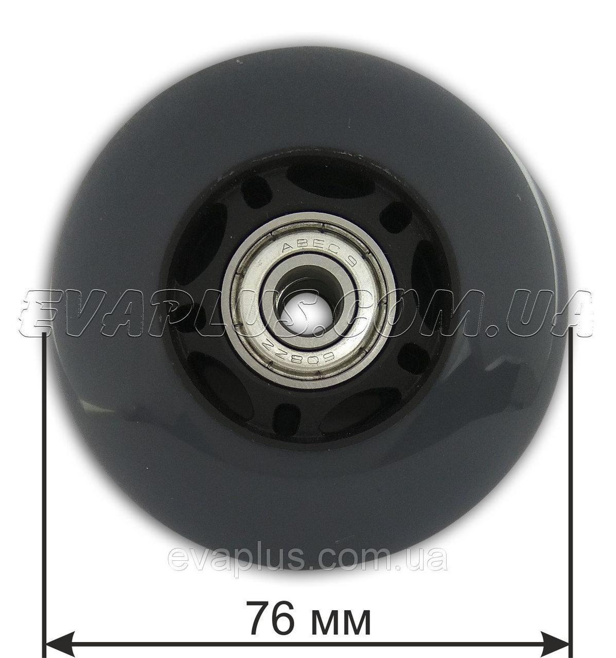 Колесо  полиуретановое 76 мм (серое)