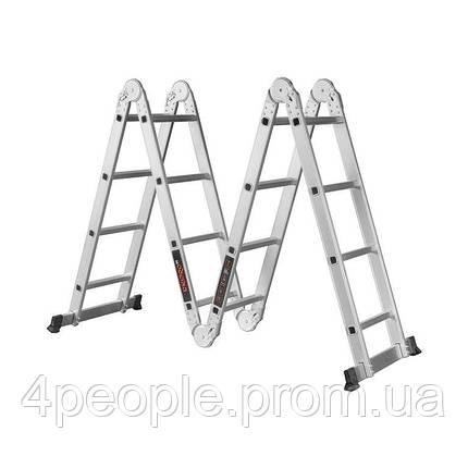 Лестница алюминиевая трансформер Dnipro-M MP-44 4,7 м, фото 2