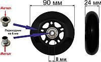Колесо 90 мм. полиуретановое (черное)