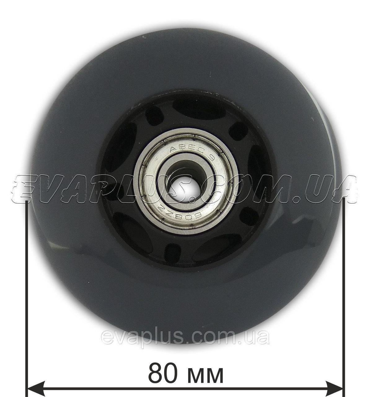 Колесо  полиуретановое 80 мм (серое)