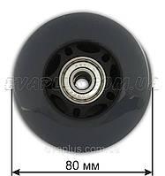 Колесо  полиуретановое 80 мм (серое), фото 1