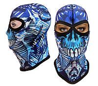 Подростковая термоактивная балаклава SportZone DeathBones. Детская термобалаклава, подшлемник, маска