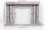 Мраморный камин Пакетбот Стиль Арт Деко , фото 9