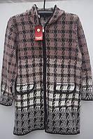 Женский  шерстяной кардиган пальто Большие размеры Очень теплый  Супер подарок!, фото 1