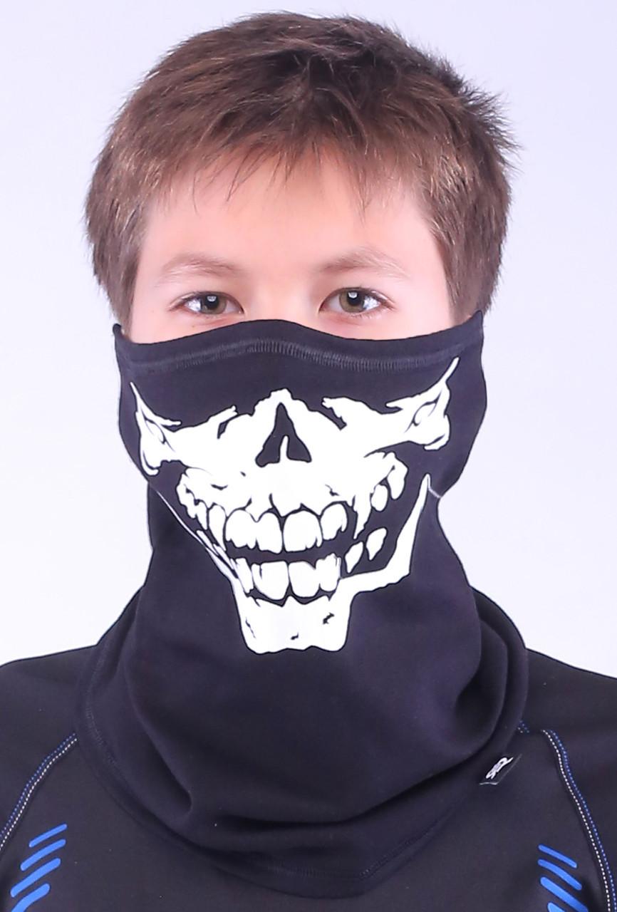 Подростковая термомаска с рисунком черепа, бафф Radical S12