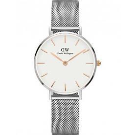 Наручные часы эконом Daniel Wellington 32 мм Silver-White-Gold
