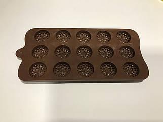 Форма силиконовая для льда и конфет хризантема