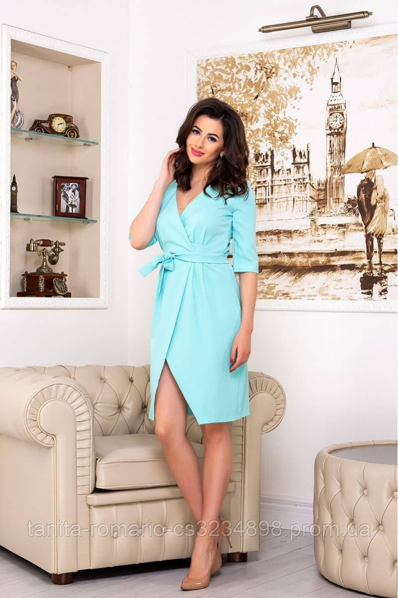 Повседневное платье 8144e Мятный S(р)