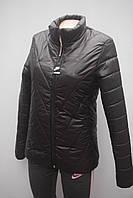 Стильная  черная стеганная куртка  в стиле NIKE