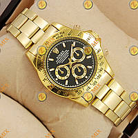 Часы Rolex Quartz Daytona Men Gold/Black