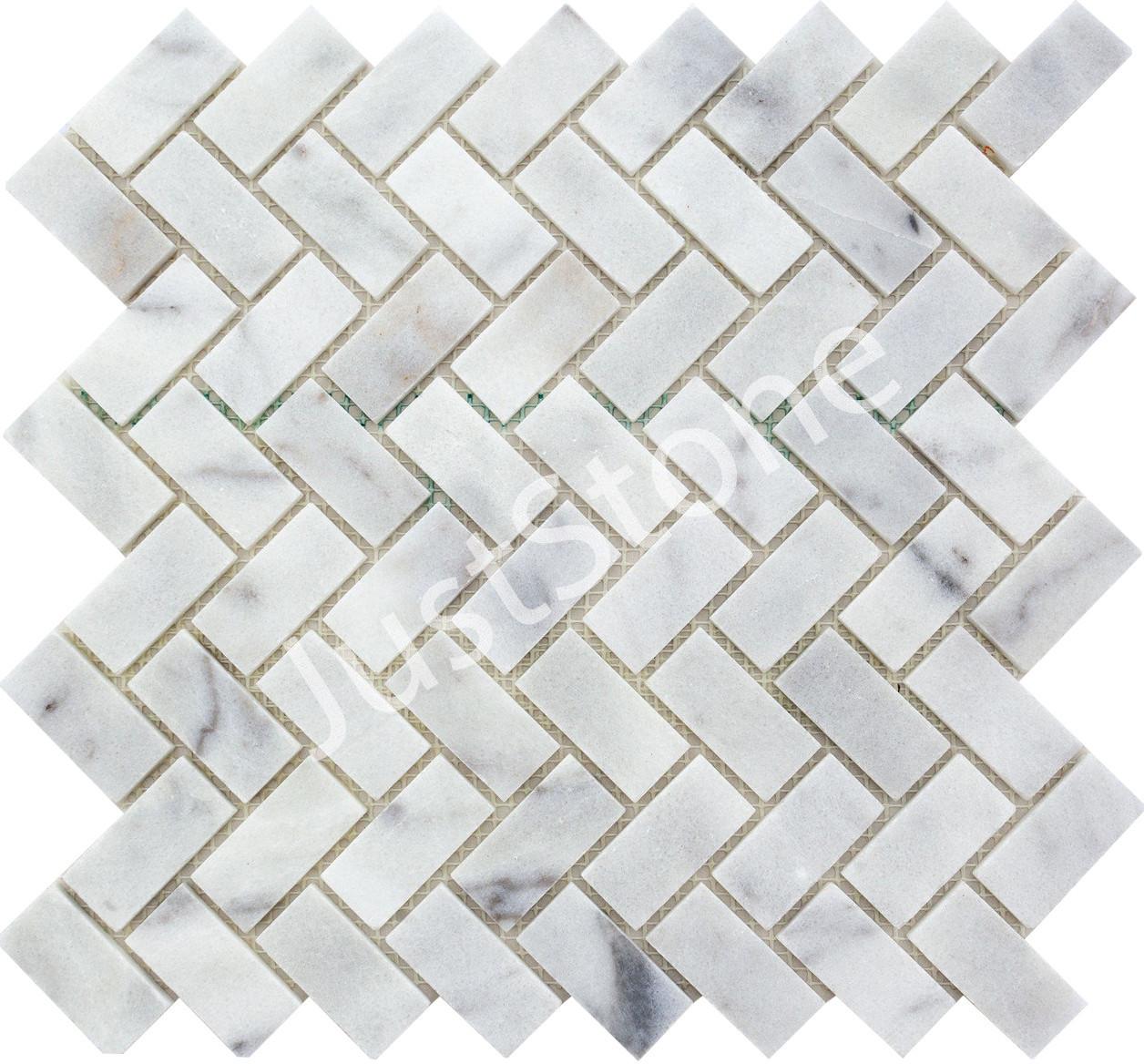 Мозаичная плитка Стар.Валт. МКР-5СВ (47х23) 6 мм White Mix