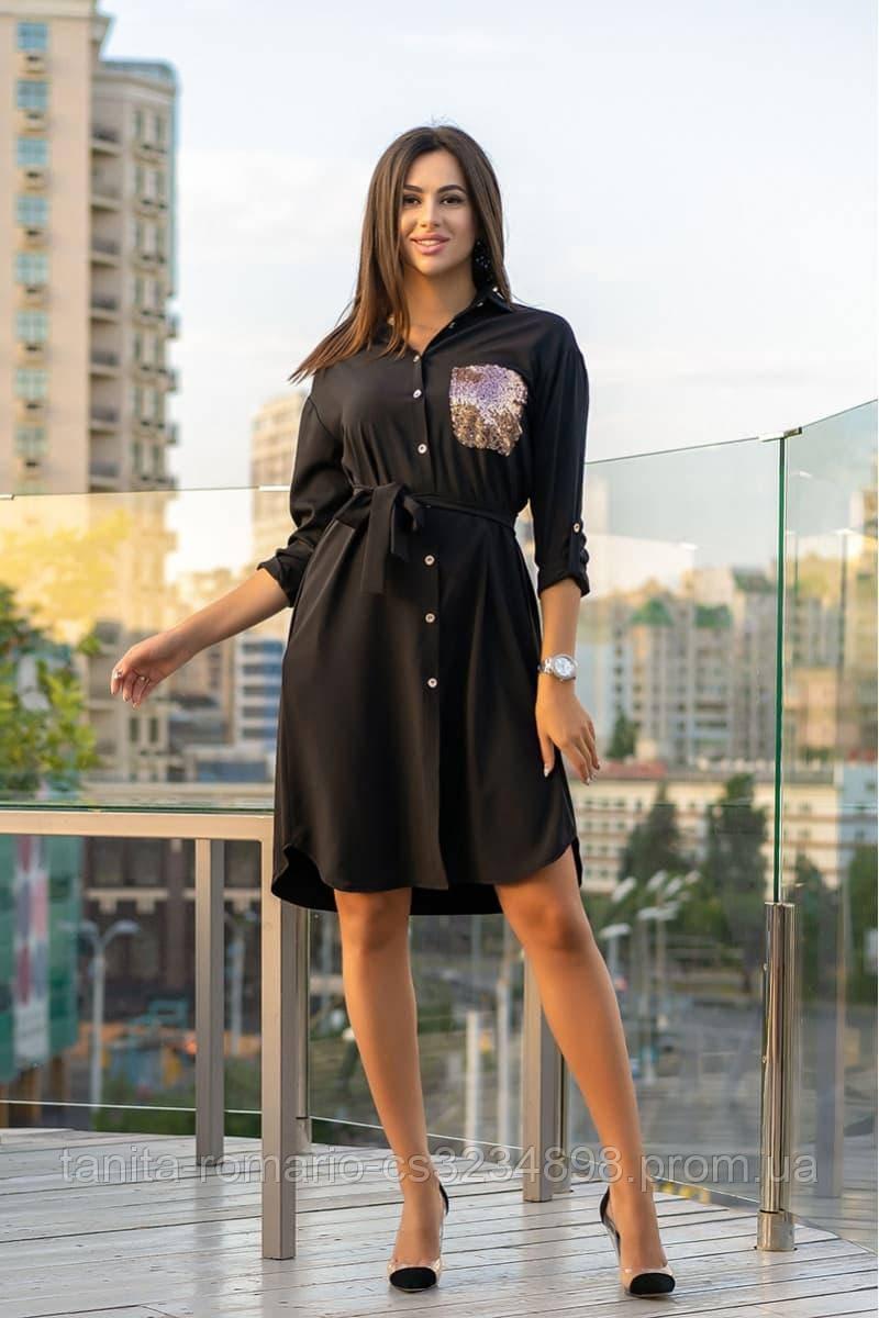 Повседневное платье 9166e Черный