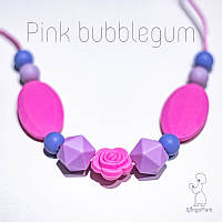 Силиконовые слингобусы Pink Bubblegum BABY MILK TEETH