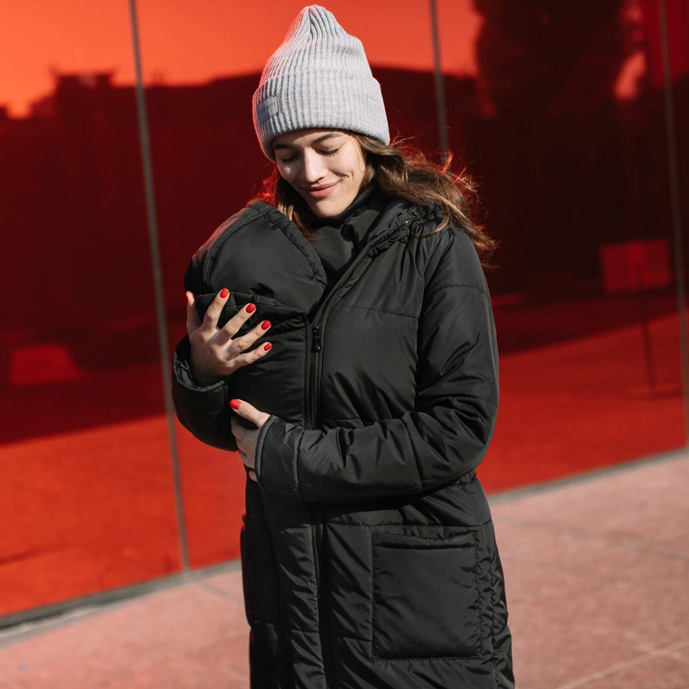 Зимняя слингокуртка LOVE & CARRY® 3 в 1 (размер 34, чёрный)