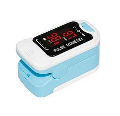 Пульсометр оксиметр напальченый (пульсоксиметр) UKC BL-230B White/Blue