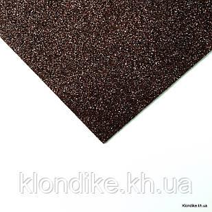 Фоамиран листовой, полиэстер, 20×30 см, Цвет: Коричневый