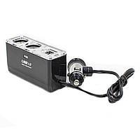 ☀Автомобильный разветвитель для прикуривателя Lesko BM-003 dual USB 60В зарядное устройство в машину
