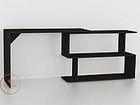 Стол компьютерный угловой Венге Тёмный, прямой, письменный стол из ДСП