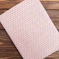 """Японский Фактурный Хлопок для Пэчворка и Кукол """"Цветные точечки на светло розовом"""",  35*25 см"""