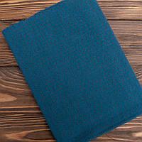 """Японский фактурный хлопок для пэчворка и кукол """"Цветные точечки на бирюзово-синем"""",  25*35 см"""
