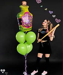 Фольгированный шар зелье и зеленый латексный шар