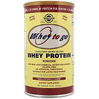 "Сывороточный протеин, SOLGAR, Whey To Go ""Whey Protein Powder"" со вкусом ванили (340 г)"