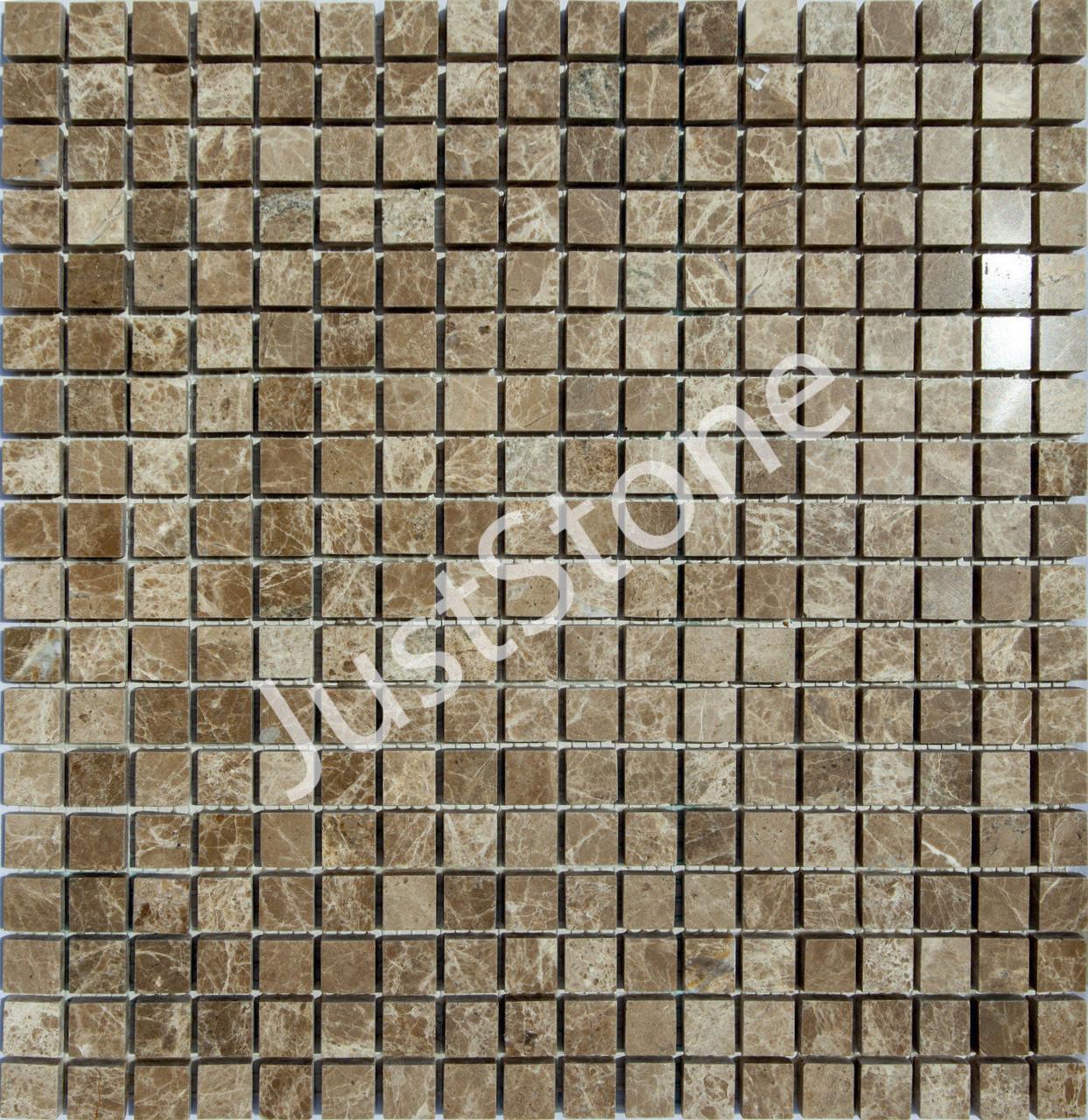 Мраморная Мозаика Полированная МКР-4П (15x15) 6 мм Emperador Light