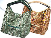 Женские сумки из лазерной кожи с двумя ручками 34*34 см (зеленый и рыжий)