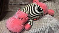 Детский плед-игрушка-подушка(бегемот)