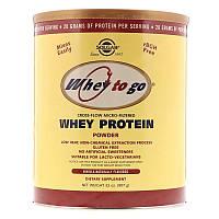 "Сывороточный протеин, SOLGAR, Whey To Go ""Whey Protein Powder"" со вкусом ванили (907 г)"