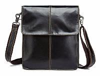 Мужская сумка через плечо Натуральная кожа Барсетка Мужская кожаная сумка для документов Коричневая